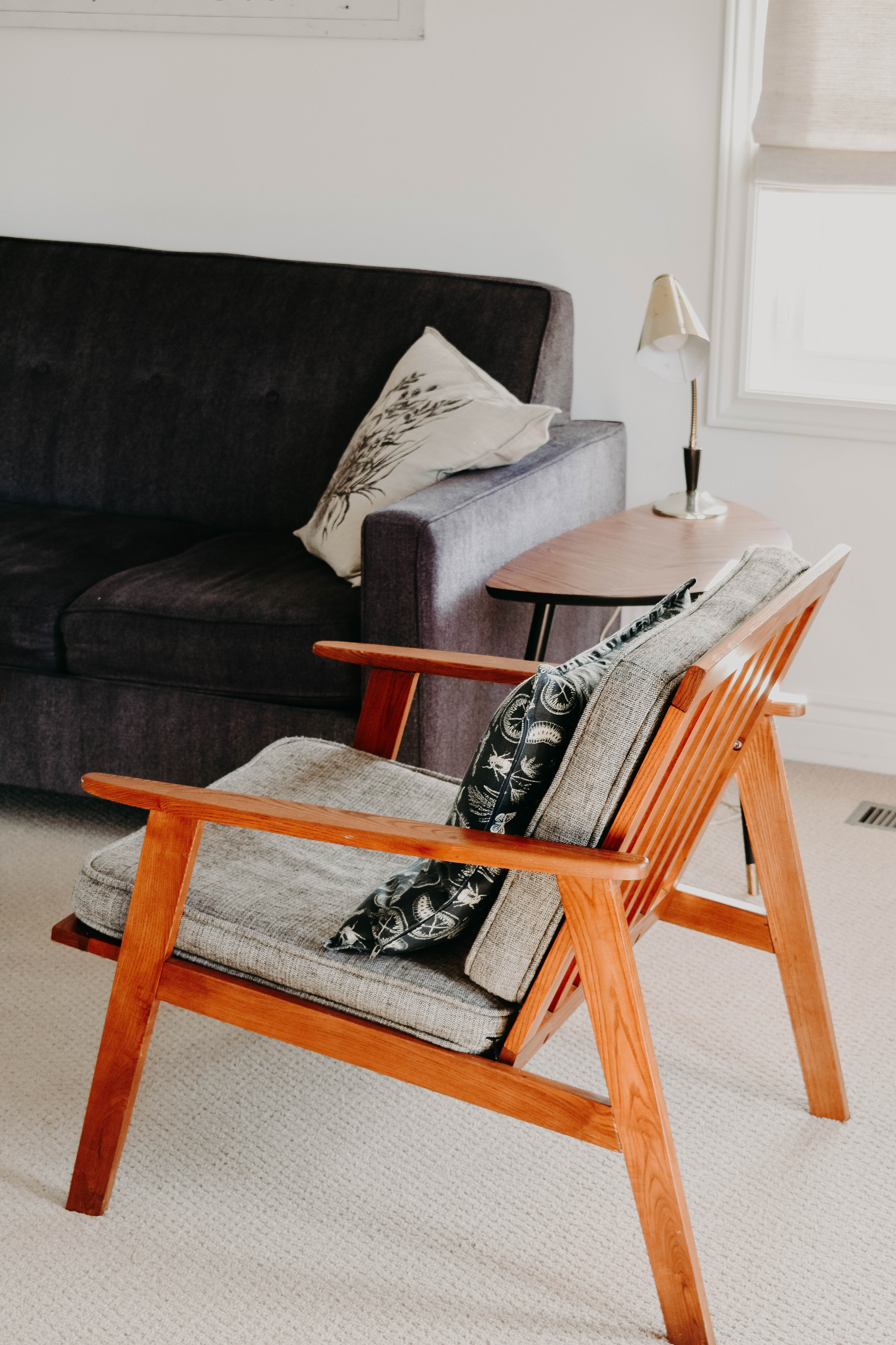 Mid century chair after having upholstery Glasgow